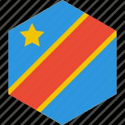 congo, country, democratic, flag, republic, world icon