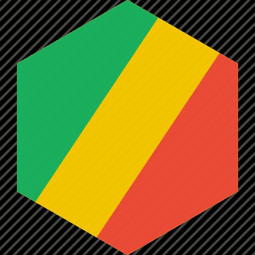 congo, country, flag, republic, world icon