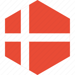 country, denmark, flag, world icon
