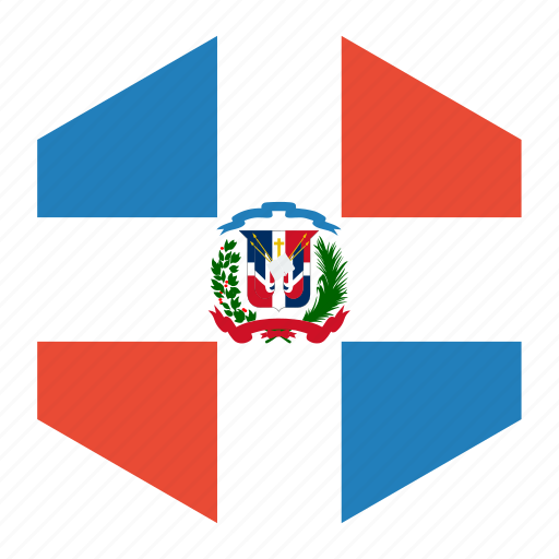 country, dominican, flag, republic, world icon