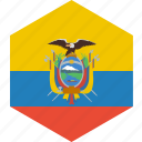 country, ecuador, flag, world icon