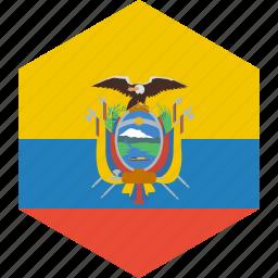 country, ecuador, flag, world icon