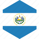 country, el, flag, salvador, world icon
