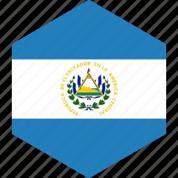 country, el, flag, salvador, world icon