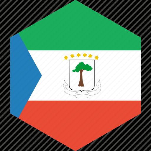 country, equatorial, flag, guinea, world icon