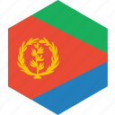 country, eritrea, flag, world icon