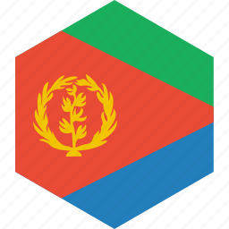 country, eritrea, flag, world icon