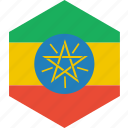country, ethiopia, flag, world icon