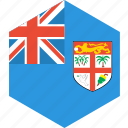 country, fiji, flag, world icon
