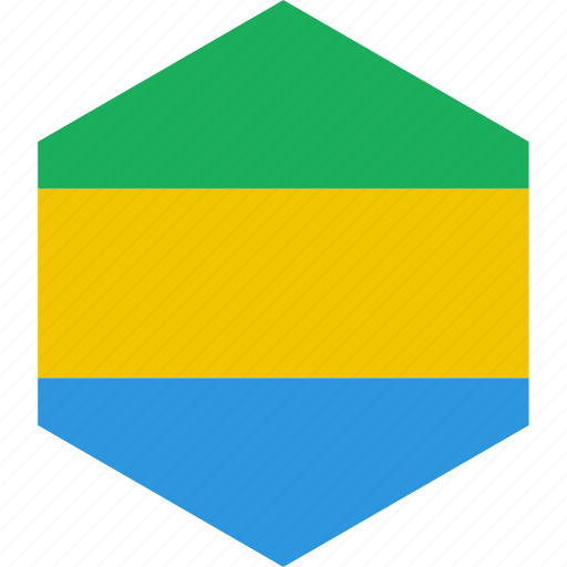 country, flag, gabon, world icon