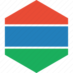 country, flag, gambia, world icon