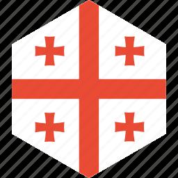 country, flag, georgia, world icon