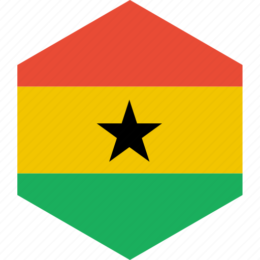country, flag, ghana, world icon