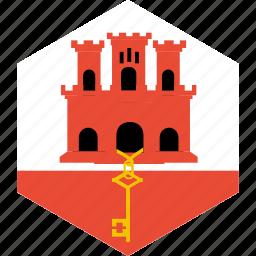 country, flag, gibraltar, world icon