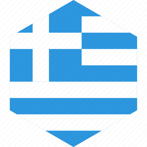 country, flag, greece, world icon