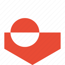 country, flag, greenland, world icon