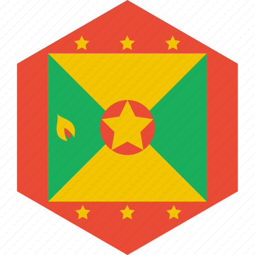 country, flag, grenada, world icon