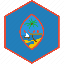 country, flag, guam, world icon