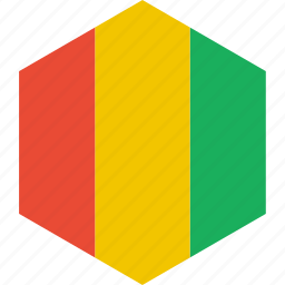 country, flag, guinea, world icon