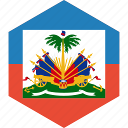 country, flag, haiti, world icon