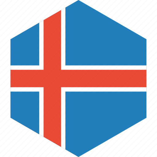 country, flag, iceland, world icon
