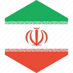 country, flag, iran, world icon