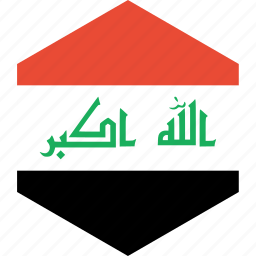country, flag, iraq, world icon