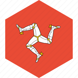 country, flag, isle, man, of, world icon