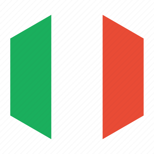 country, flag, italy, world icon