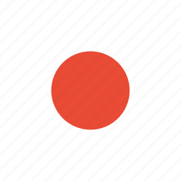 country, flag, japan, world icon