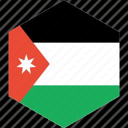 country, flag, jordan, world icon