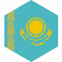country, flag, kazakhstan, world icon