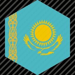 country, flag, kazakhstan, world icon