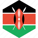 country, flag, kenya, world icon
