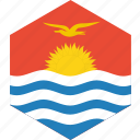 country, flag, kiribati, world icon