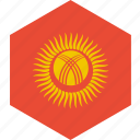 country, flag, kyrgyzstan, world icon