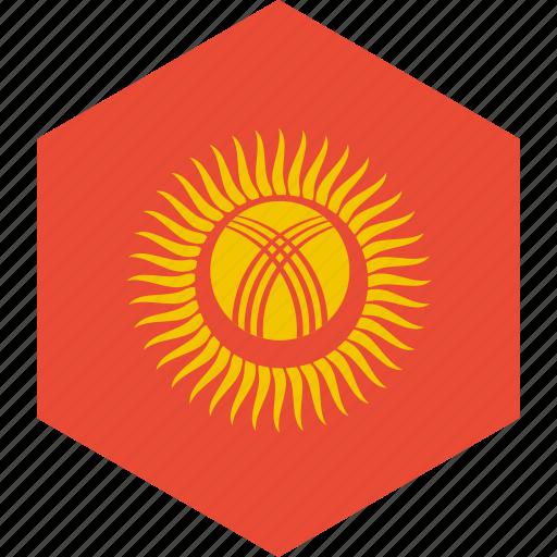 country, flag, kyrgyzstan, world icon