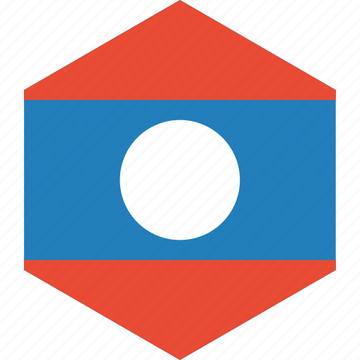 country, flag, laos, world icon