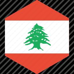 country, flag, lebanon, world icon