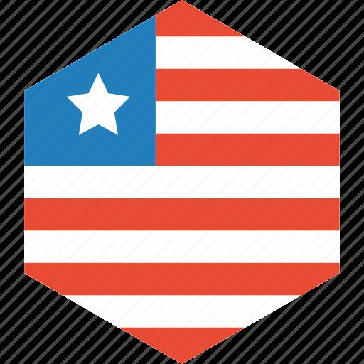 country, flag, liberia, world icon