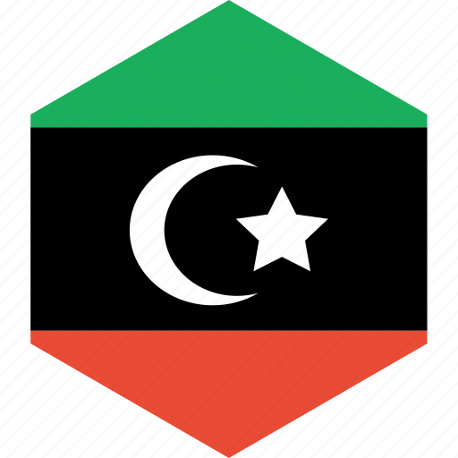 country, flag, libya, world icon