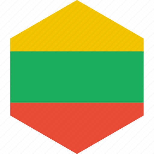 country, flag, lithuania, world icon