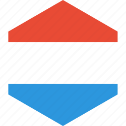 country, flag, luxembourg, world icon