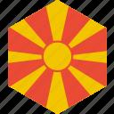 country, flag, macedonia, world icon