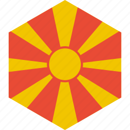 country, flag, macedonia, world icon