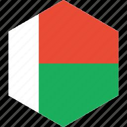 country, flag, madagascar, world icon