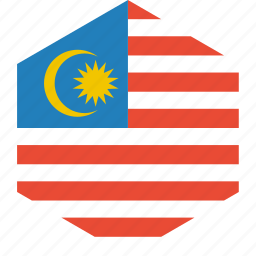 country, flag, malaysia, world icon