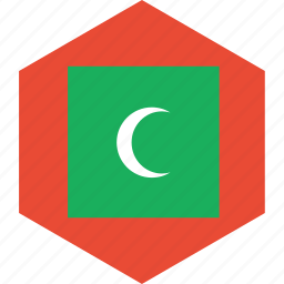 country, flag, maldives, world icon