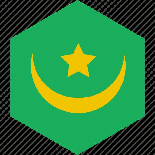 country, flag, mauritania, world icon