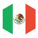 country, flag, mexico, world icon